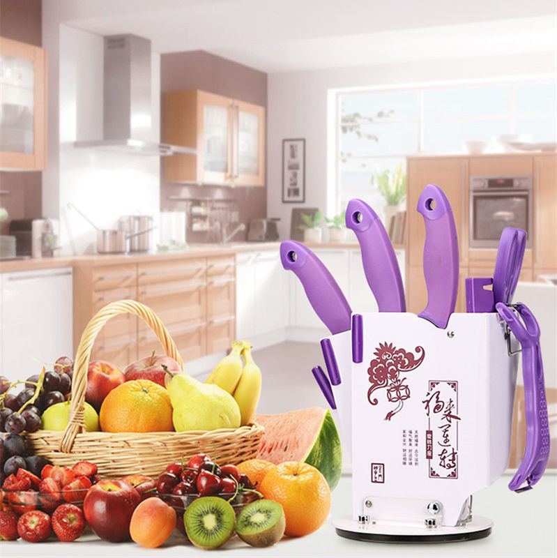 7 Pcs Stainless Steel Kitchen Knife Set Chopping Knife Freezing Knife Scissors Chef Knives